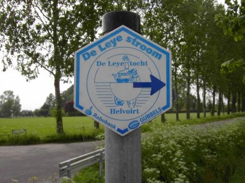 Routebord Leyestroom detail met straat 2005